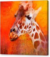Colorful Expressions Giraffe Canvas Print