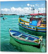 Colorful Fishing Boats Canvas Print
