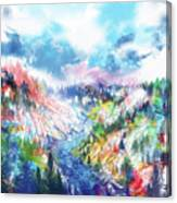Colorful Forest 5 Canvas Print
