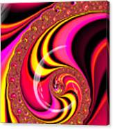Colorful Fractal Spiral Red Yellow Pink Canvas Print