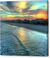 Colorful Garden City Sunset Canvas Print