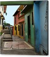 Colorful Guayaquil Alley Canvas Print