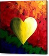 Colorful Heart Valentine Valentine's Day Canvas Print