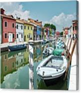 Colorful Homes Of Burano Canvas Print