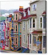 Colorful Houses In St. Johns, Nl Canvas Print