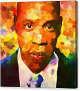 Colorful Jay Z Palette Knife Canvas Print