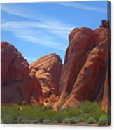 Colorful Landscape Rock Mountains Of Overton Nevada  Canvas Print
