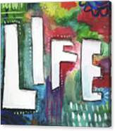 Colorful Life- Art By Linda Woods Canvas Print