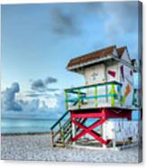 Colorful Lifeguard Tower Canvas Print