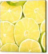 Colorful Limes Canvas Print