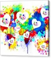 Colorful Love Canvas Print