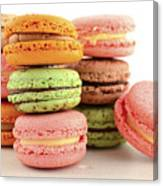 Colorful Macaroons Canvas Print