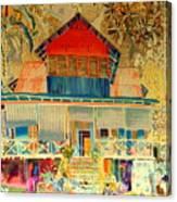 Colorful Mauritiun Cottage Canvas Print