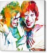 Colorful Mick And Keith Canvas Print