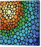 Colorful Mosaic Art - Blissful Canvas Print