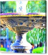 Colorful New Orleans Fountain Canvas Print