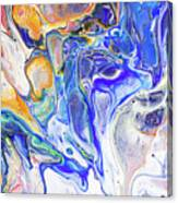 Colorful Night Dreams 5. Abstract Fluid Acrylic Painting Canvas Print