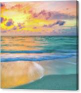 Colorful Ocean Sky Canvas Print