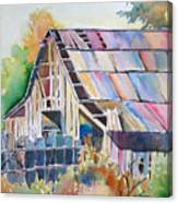 Colorful Old Barn Canvas Print