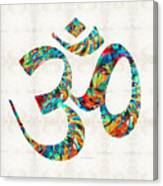 Colorful Om Symbol - Sharon Cummings Canvas Print