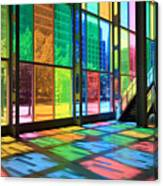 Colorful Palais Des Congres Montreal Canada Canvas Print