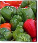 Colorful Peppers Canvas Print