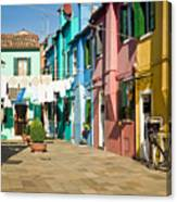 Colorful Piazza Canvas Print