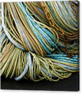 Colorful Pile Of Fishing Nets And Ropes Canvas Print