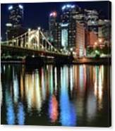 Colorful Pittsburgh Lights Canvas Print