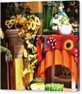 Colorful Restaurant Bucerias Canvas Print