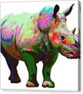 Colorful Rihno Canvas Print