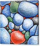 Colorful Rock Abstract Canvas Print