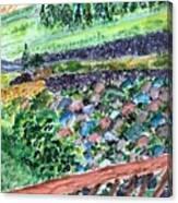 Colorful Rock Garden Canvas Print