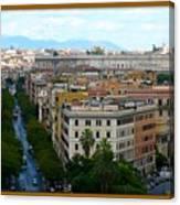 Colorful Rome Cityscape Canvas Print