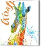 Colorful Safari Animals D Canvas Print