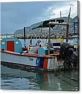 Colorful Saint Martin Power Boat Caribbean Canvas Print