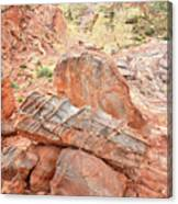 Colorful Sandstone In Wash 3 - Valley Of Fire Canvas Print