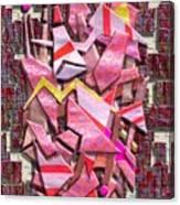 Colorful Scrap Metal Canvas Print