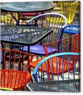 Colorful Seating Canvas Print