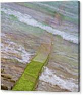 Colorful Seawall Canvas Print