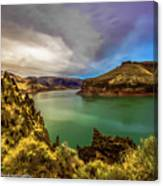 Colorful Skies Over Lake Owyhee Canvas Print
