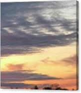 Sherbet Colored Sky Canvas Print