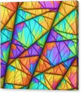 Colorful Slices Canvas Print