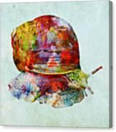 Colorful Snail Art  Canvas Print