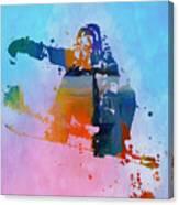 Colorful Snowboarder Paint Splatter Canvas Print