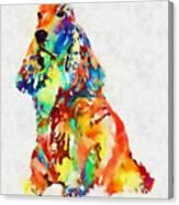 Colorful Spaniel Canvas Print