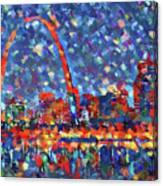 Colorful St Louis Skyline Canvas Print