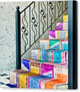 Colorful Stairs Canvas Print