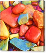 Colorful Stones Canvas Print