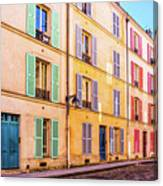 Colorful Street In Paris Canvas Print